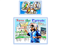 Save parrots - Illustrations for educational program